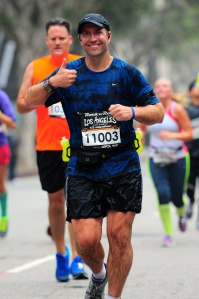 Scott at the 2013 LA Rock 'n' Roll Half Marathon.