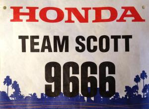 My bib for the 2012 LA Marathon.