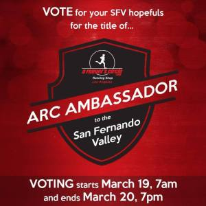 "Vote ""Scott"" for ARC Ambassador March 19th and 20th."