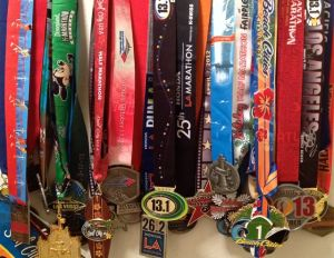 "So many medals, so much ""clubbing"" to do."