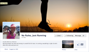 """""""No Rules, Just Running"""""""
