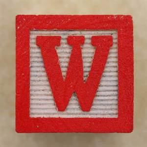 "Today's post is brought to you by the letter ""W."""