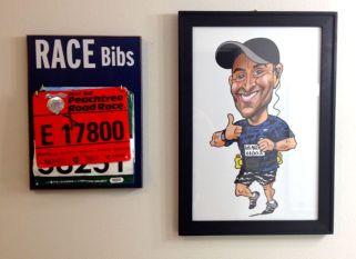 Bibs a hangin' and framed cartoonization.