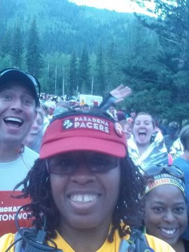 No race is complete without some selfies and a photobomb.