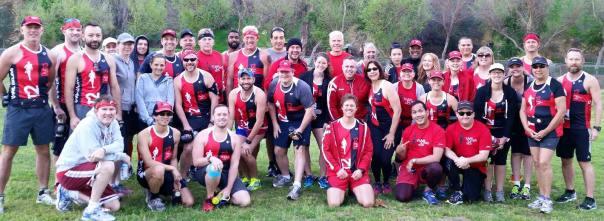 The 2015 T2 LA Marathon Running Team.