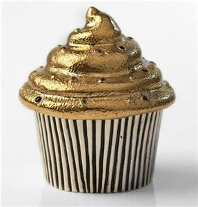 Cupcakes and gold.