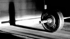 Lifting weights film noir style.